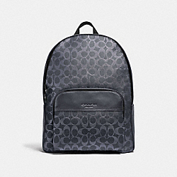 COACH F72483 Houston Backpack In Signature Canvas DENIM/BLACK ANTIQUE NICKEL