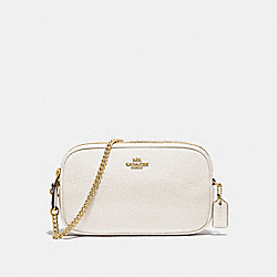 CROSSBODY POUCH - F72490 - CHALK/GOLD