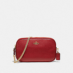 COACH F72490 Crossbody Pouch TRUE RED/IMITATION GOLD