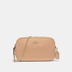 COACH F72490 Crossbody Pouch BEECHWOOD/IMITATION GOLD