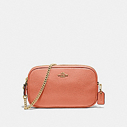 COACH F72490 Crossbody Pouch LIGHT CORAL/GOLD
