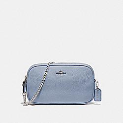 COACH F72490 - CROSSBODY POUCH STEEL BLUE