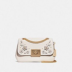 CASSIDY CROSSBODY WITH FLORAL APPLIQUE - F72628 - CHALK MULTI/IMITATION GOLD