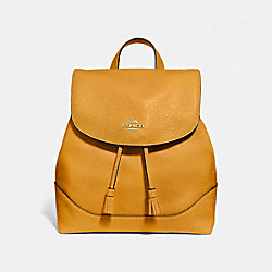 ELLE BACKPACK - F72645 - MUSTARD YELLOW/GOLD