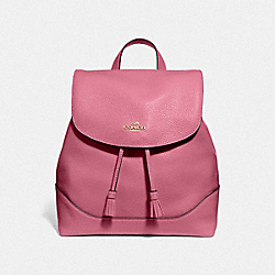 ELLE BACKPACK - F72645 - ROUGE/GOLD