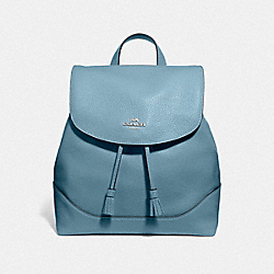 ELLE BACKPACK - F72645 - CORNFLOWER/SILVER