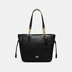 ELLE CHAIN TOTE - F72650 - BLACK/IMITATION GOLD
