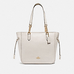 ELLE CHAIN TOTE - F72650 - CHALK/IMITATION GOLD