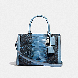 SMALL ZOE CARRYALL - F72664 - CORNFLOWER/SILVER