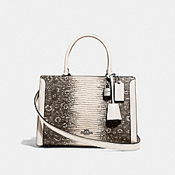 SMALL ZOE CARRYALL - F72664 - CHALK/SILVER