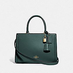 COACH F72667 - SMALL ZOE CARRYALL IM/EVERGREEN