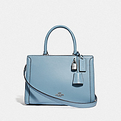 SMALL ZOE CARRYALL - F72667 - CORNFLOWER/SILVER