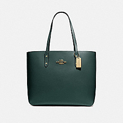 COACH F72673 Town Tote IM/EVERGREEN