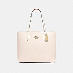 TOWN TOTE - F72673 - CHALK/IMITATION GOLD
