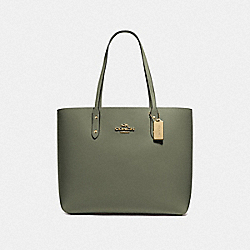 COACH F72673 - TOWN TOTE MILITARY GREEN/GOLD