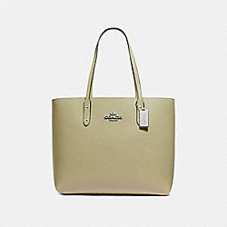 COACH F72673 Town Tote LIGHT CLOVER/SILVER