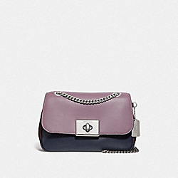 CASSIDY CROSSBODY IN COLORBLOCK - F72686 - JASMINE MULTI/SILVER