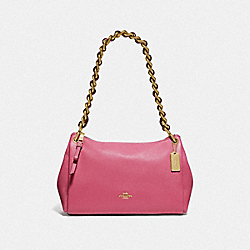 COACH F72700 Small Mia Shoulder Bag PINK RUBY/GOLD