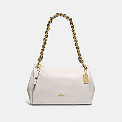 SMALL MIA SHOULDER BAG - F72700 - CHALK/GOLD