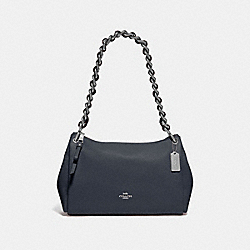 COACH F72700 - SMALL MIA SHOULDER BAG MIDNIGHT/SILVER