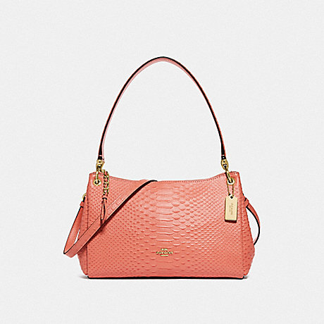 COACH F72701 SMALL MIA SHOULDER BAG LIGHT CORAL/GOLD