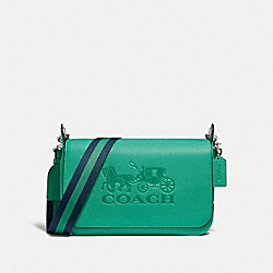 COACH F72703 Jes Messenger GREEN/SILVER