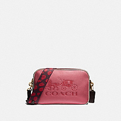 COACH F72704 Jes Crossbody In Colorblock PINK RUBY/GOLD
