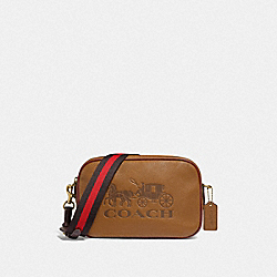 JES CROSSBODY IN COLORBLOCK - F72704 - LIGHT SADDLE/GOLD
