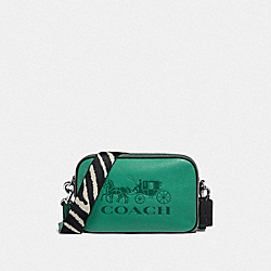 JES CROSSBODY IN COLORBLOCK - F72704 - GREEN/SILVER