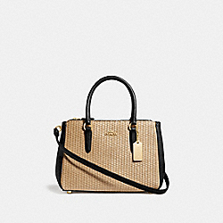 COACH F72708 Mini Surrey Carryall NATURAL BLACK/GOLD