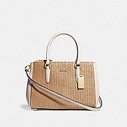 MINI SURREY CARRYALL - F72708 - NATURAL CHALK/GOLD