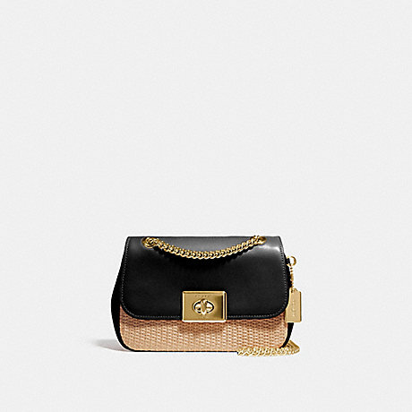 separation shoes no sale tax matching in colour COACH F72709 - MINI CASSIDY CROSSBODY - NATURAL BLACK/GOLD ...