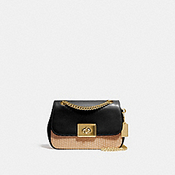 MINI CASSIDY CROSSBODY - F72709 - NATURAL BLACK/GOLD