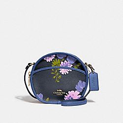 COACH F72804 Canteen Crossbody With Painted Peony Print NAVY MULTI/IMITATION GOLD