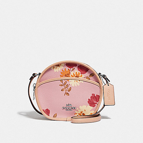 COACH F72804 CANTEEN CROSSBODY WITH PAINTED PEONY PRINT CARNATION-MULTI/SILVER