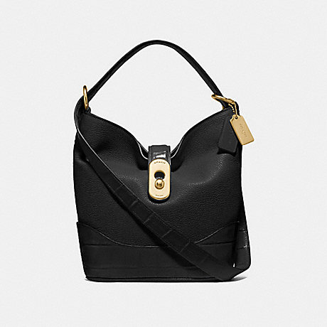 COACH F72808 AMBER DUFFLE BLACK/GOLD