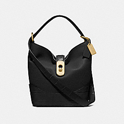 AMBER DUFFLE - F72808 - BLACK/GOLD