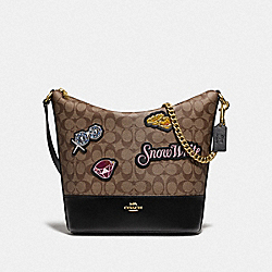 DISNEY X COACH PAXTON DUFFLE IN SIGNATURE CANVAS WITH SNOW WHITE - F72826 - KHAKI/MULTI/GOLD