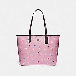 DISNEY X COACH REVERSIBLE CITY TOTE WITH SNOW WHITE AND THE SEVEN DWARFS GEMS PRINT - F72827 - MULTI/SILVER