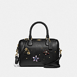 MINI BENNETT SATCHEL WITH GEMSTONES - F72829 - BLACK/MULTI/GOLD