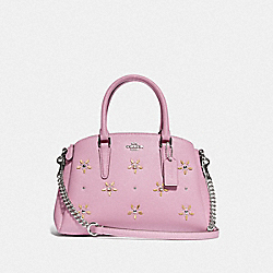 MINI SAGE CARRYALL WITH ALLOVER STUDS - F72833 - TULIP