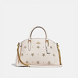 SAGE CARRYALL WITH ALLOVER STUDS - F72834 - CHALK/GOLD