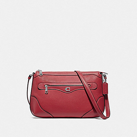 COACH F72839 IVIE MESSENGER WASHED RED/SILVER