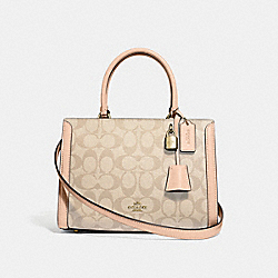 COACH F72840 - SMALL ZOE CARRYALL IN SIGNATURE CANVAS LIGHT KHAKI/BEECHWOOD MULTI/GOLD