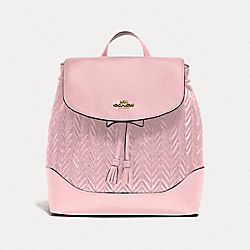 COACH F72842 - ELLE BACKPACK WITH QUILTING CARNATION/SILVER