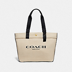 TOTE WITH COACH PRINT - F72847 - IM/NATURAL