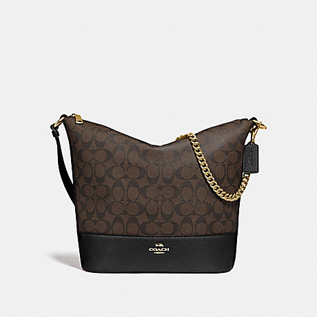 COACH F72852 PAXTON DUFFLE IN SIGNATURE CANVAS BROWN/BLACK/GOLD