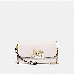 COACH F72903 Chain Crossbody With Bow Turnlock CHALK/GOLD