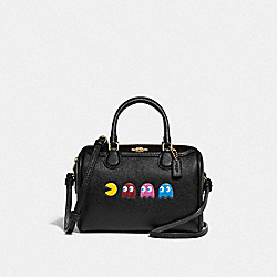 MICRO BENNETT SATCHEL WITH PAC-MAN ANIMATION - F72906 - BLACK/MULTI/GOLD
