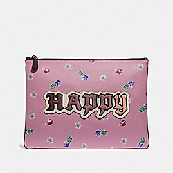 DISNEY X COACH LARGE WRISTLET 30 WITH HAPPY - F72913 - MULTI
